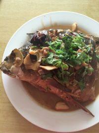 美味的铁锅炖鱼