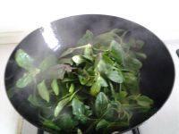 炒菠菜的做法图解三
