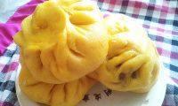 美味的南瓜紫薯包