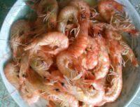 美味的盐水基围虾