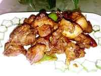 美味的麻辣兔肉