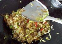 家常菜包菜炒粉条