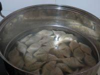 自己做的青椒猪肉水饺