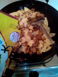 营养丰富的竹笋炒肉