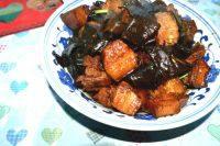 家常菜海带红烧肉