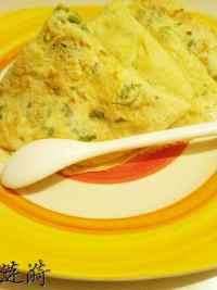 自制小白菜鸡蛋饼