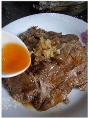 美味的凉拌麻辣牛肉