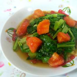 番茄炒油菜