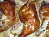 美味的香烤鸡腿