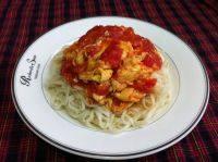 自己做的西红柿鸡蛋打卤面