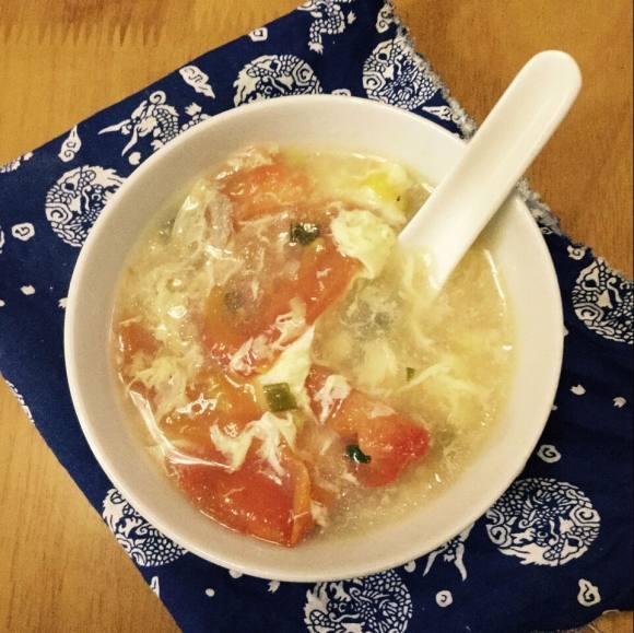 唇齿留香的西红柿蛋花汤