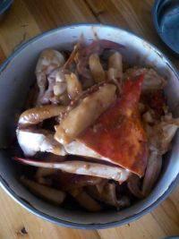 鲜美的梭子蟹炒年糕