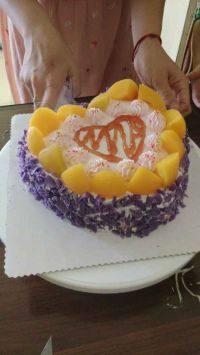 自制心形蛋糕