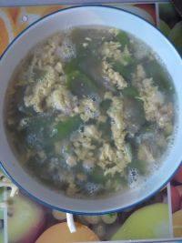 美味的丝瓜蛋汤