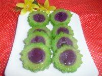 自己做的紫薯苦瓜圈