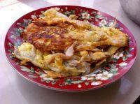 家常菜银鱼煎蛋