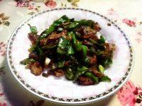 健康的青椒炒肉片