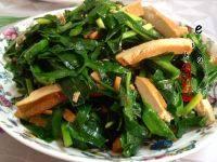 家常菜韭菜炒香干