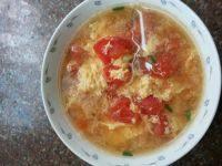 美味的西红柿蛋汤