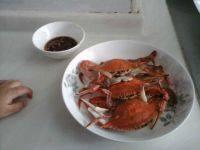 美味的清蒸螃蟹