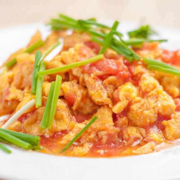鲜美可口的西红柿炒鸡蛋