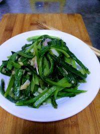家常菜蒜蓉油麦菜