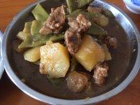 家常菜土豆豆角炖排骨