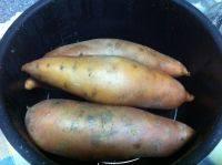自制蒸红薯