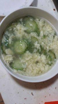 家常的黄瓜鸡蛋汤