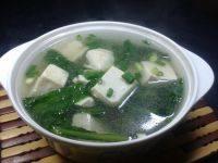 清淡的青菜豆腐汤
