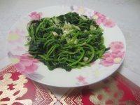 自制的蒜蓉苋菜