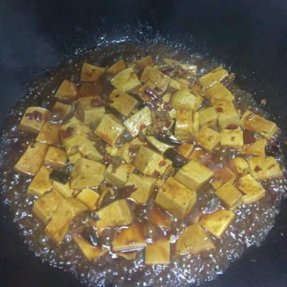独特的炒豆腐