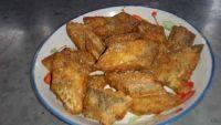 家常菜干炸带鱼