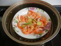 美味的清蒸虾干