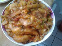 营养丰富的西红柿炒茄子