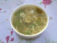 美味的丝瓜鸡蛋汤