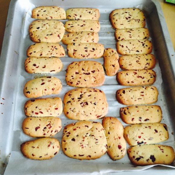 色味俱佳的蔓越莓饼干