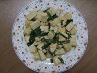 绿色食物之蒜苗炒豆腐