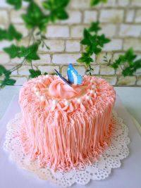 美味的心形蛋糕