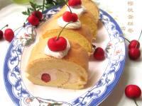 自制樱桃蛋糕卷