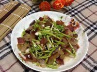 家常菜藜蒿炒腊肉