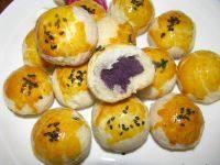 自制紫薯酥