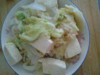 家常的白菜炖豆腐