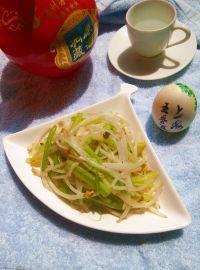 家常菜芹菜炒豆芽