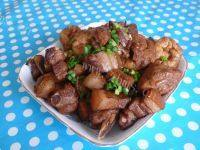 家常菜油豆腐烧肉