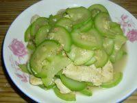 家常菜西葫芦炒豆腐