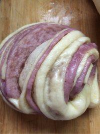自制紫薯花卷