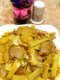 家常菜竹笋炒肉