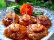 热腾腾的茄汁芋头猪肉虾仁饼
