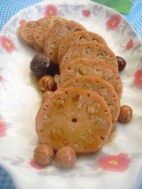 蜜汁糯米藕自制